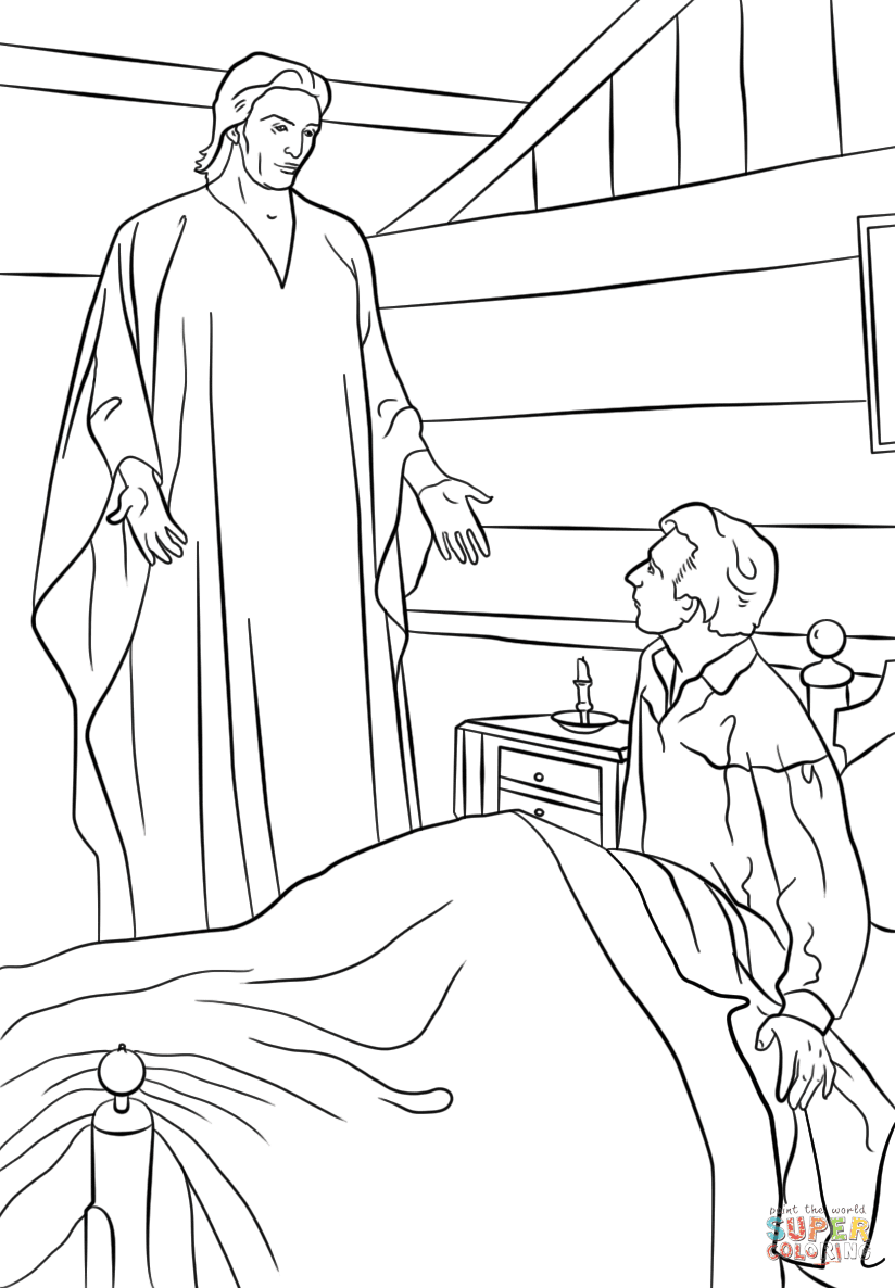 Short attention span sunday school short attention span for Angel visits joseph coloring page