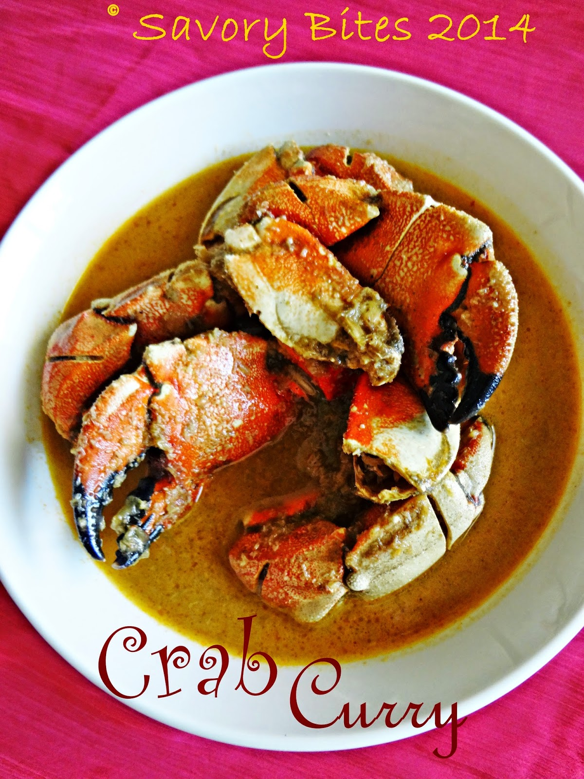 Crab Curry Maharashtrian Goan