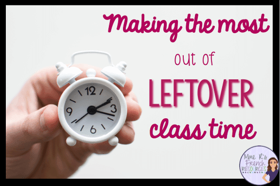 managing leftover classtime
