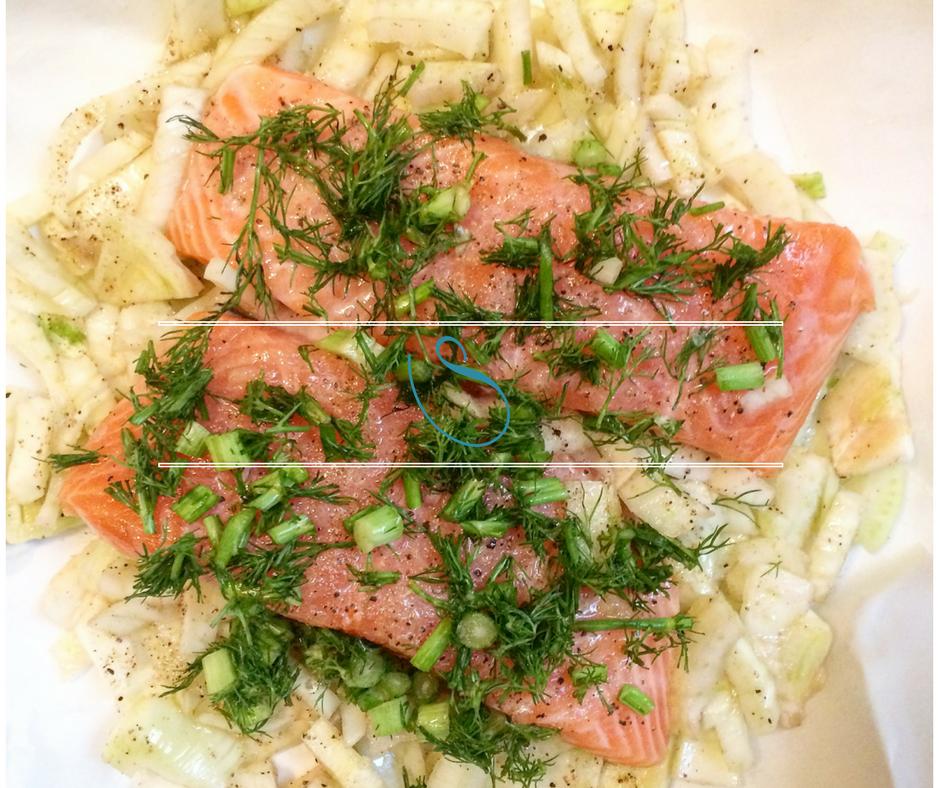 #Salmon & fennel papillote   Papillote de saumon & fenouil