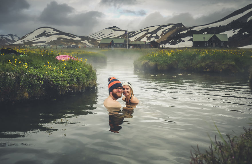 We bathed in hot springs in Iceland… - We Visited Over 50 Countries With Our Van Spending Only $8 A Day