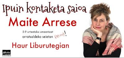 Maite Arrese Leioako liburutegian