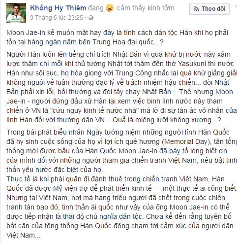 Tố tổng thống Hàn Quốc xúc phạm dân Việt - zân chủ cuội bị cờ vàng ném đá