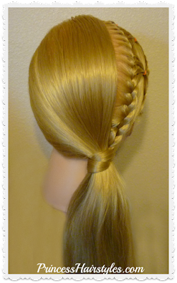 hair wrapped ponytail with braids