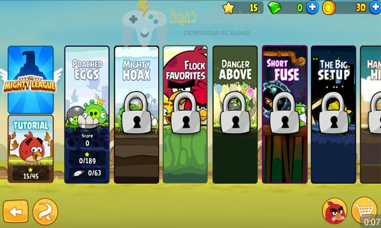تحميل لعبة الطيور الغاضبة 4 Angry Birds للكمبيوتر
