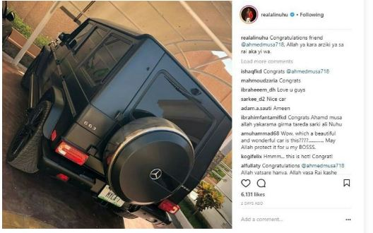 Footballer Ahmed Musa Acquires a Brand New Mercedes Benz G Wagon AMG