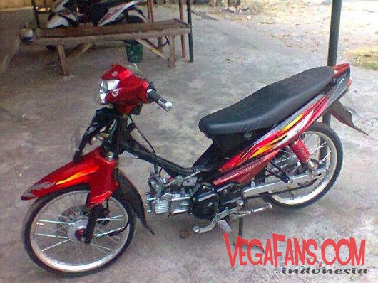 modif vega zr sederhana warna merah simple