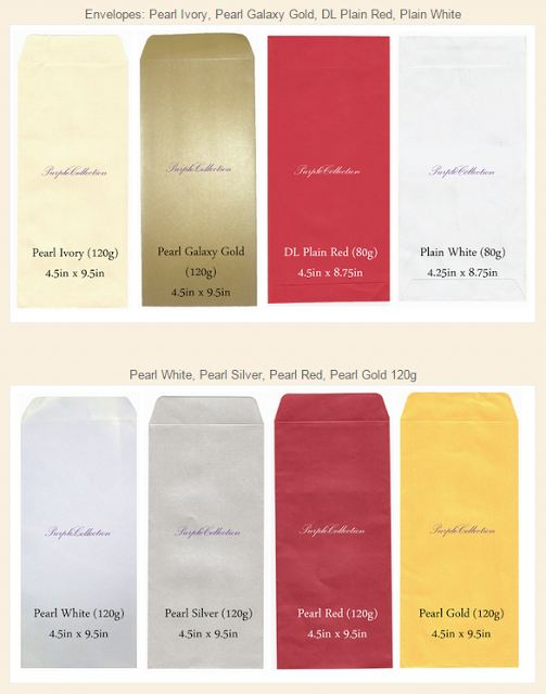 pearl metallic envelopes