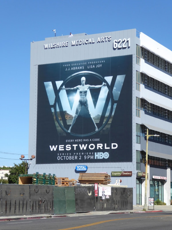 Giant Westworld HBO TV remake billboard