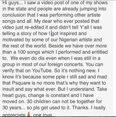 Peter Okoye's write up