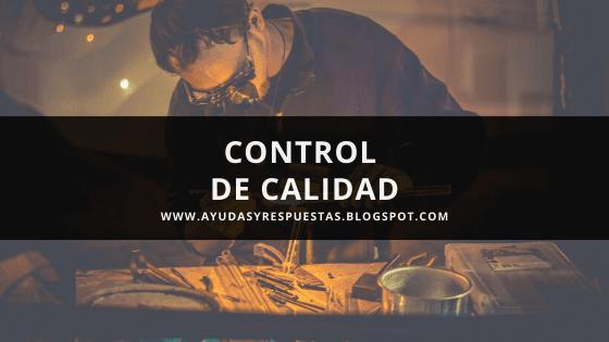 control de calidad: revision de presaberes