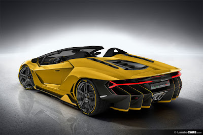 2017 Lamborghini Centenario Roadster left side rear look