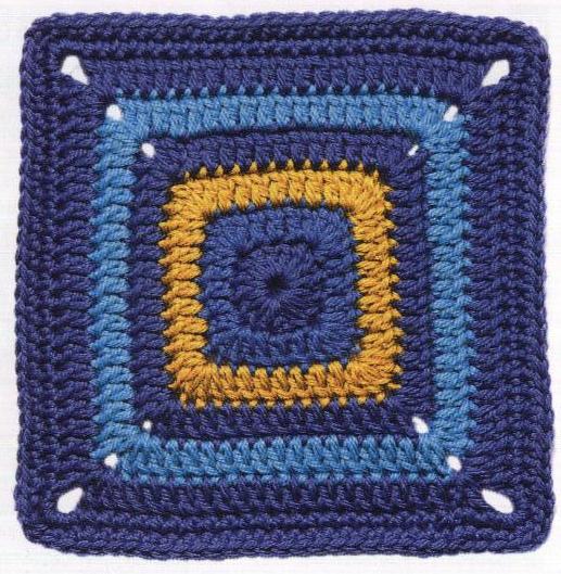 Patrón #1425: Carpeta Azul Profundo a Crochet