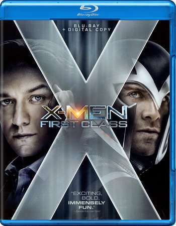Poster Of X-Men First Class 2011 Dual Audio 350MB BRRip 480p Free Download Watch Online Worldfree4u