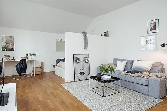 sala e quarto integrados, apartamento pequeno, integrar espaços, sala decorada