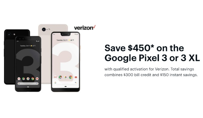 Get up to $450 off the Google Pixel 3 and Pixel 3 XL with