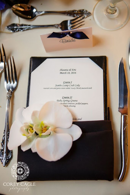 menu card | Corey Cagle Photography