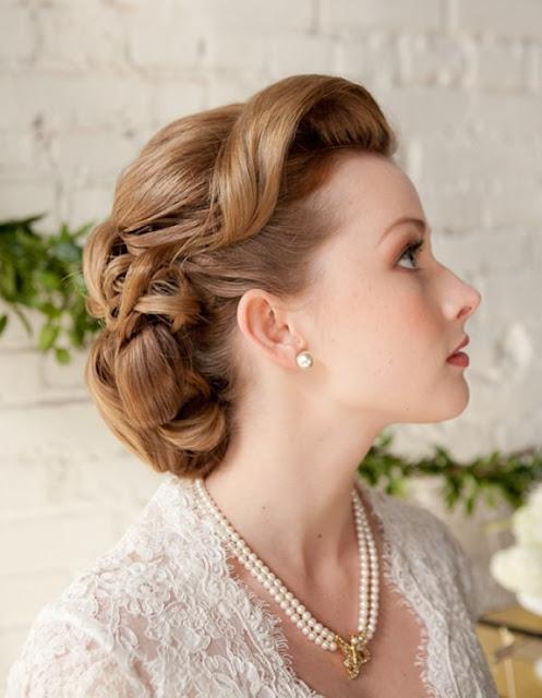 Vintage Wedding Hair Style 17