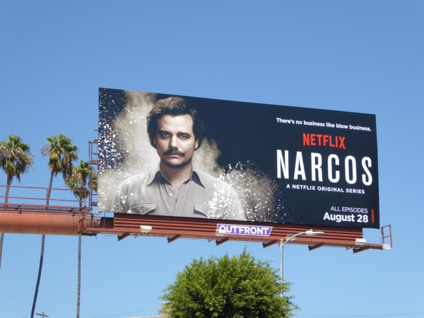 Narcos series launch billboard