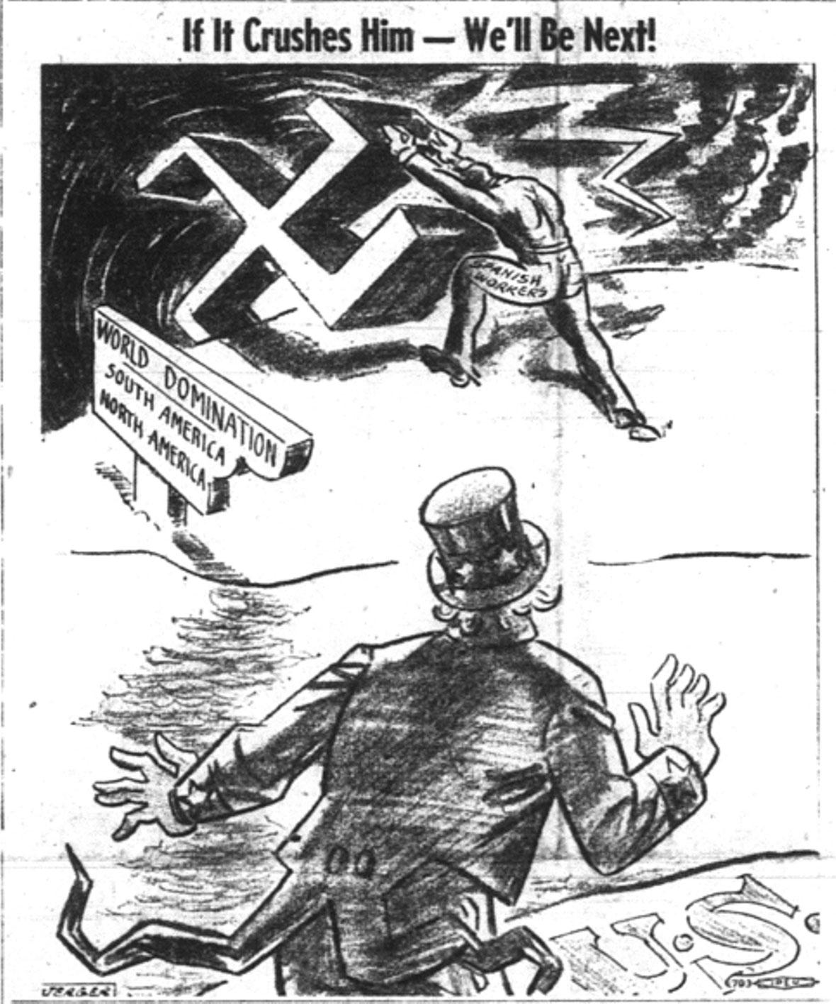 Mrs. Yancie's Room!: World War II Political Cartoons