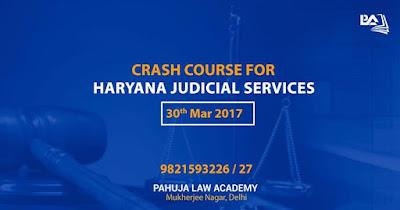 Crash Course for Haryana Judicial Services