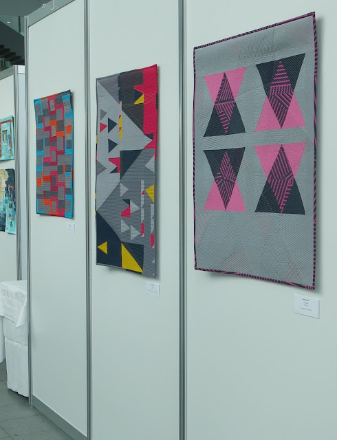 art-tex exhibition at Nadelwelt Karlsruhe 2018 - quilts by Sophie Zaugg