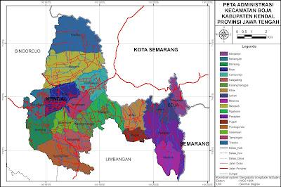 Peta Administrasi Kecamatan Boja, Kabupaten Kendal ...