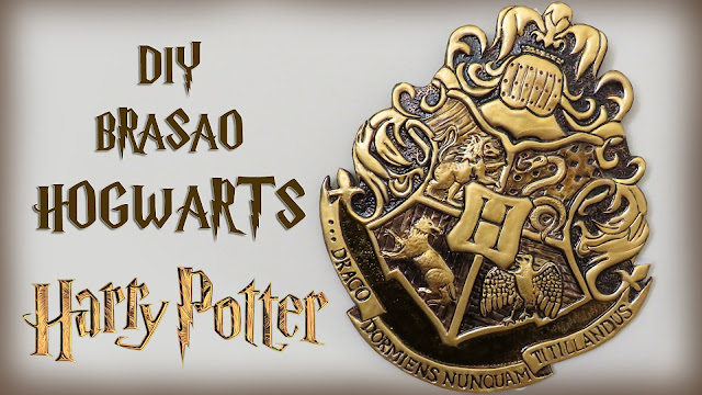 DIY: Brasão de Hogwarts - Harry Potter Crest tutorial