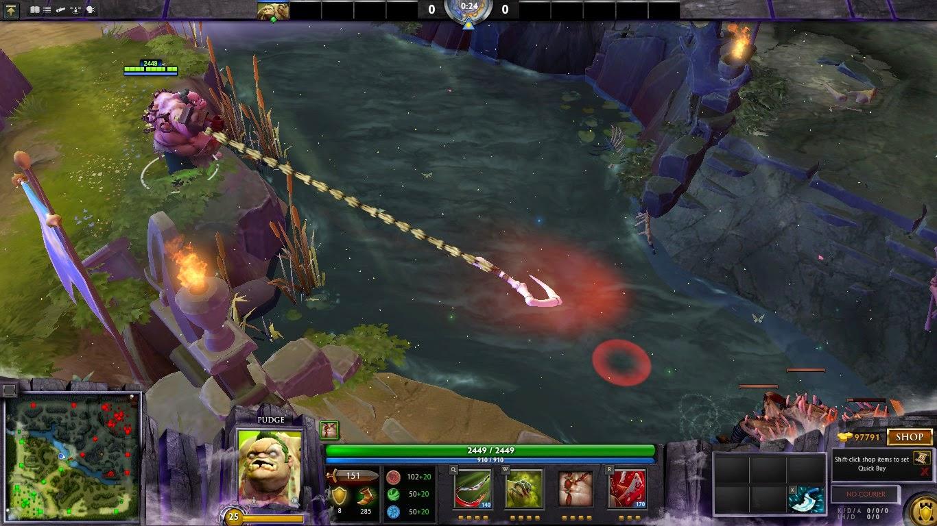 Dota 2 Immortal 15: Dota 2 Mod : Pudge Dragon Claw Hook Immortal Items