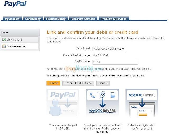 Verify tài khoản Paypal bằng thẻ VISA bước4