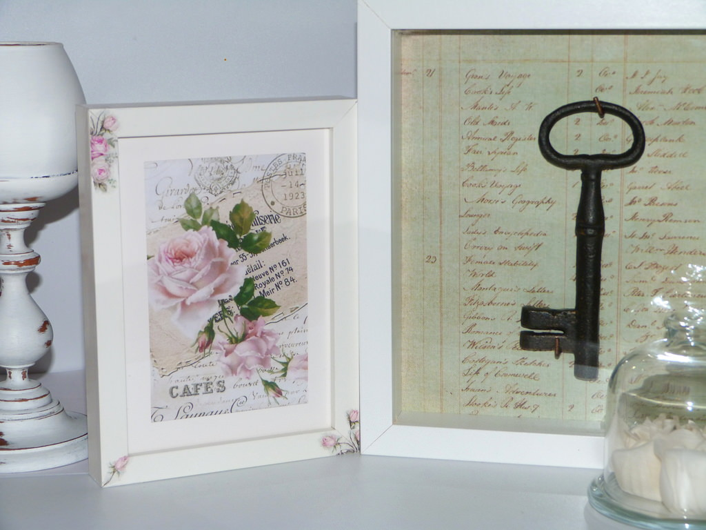 Decorar marcos de fotos isabel vintage - Marcos decorados ...