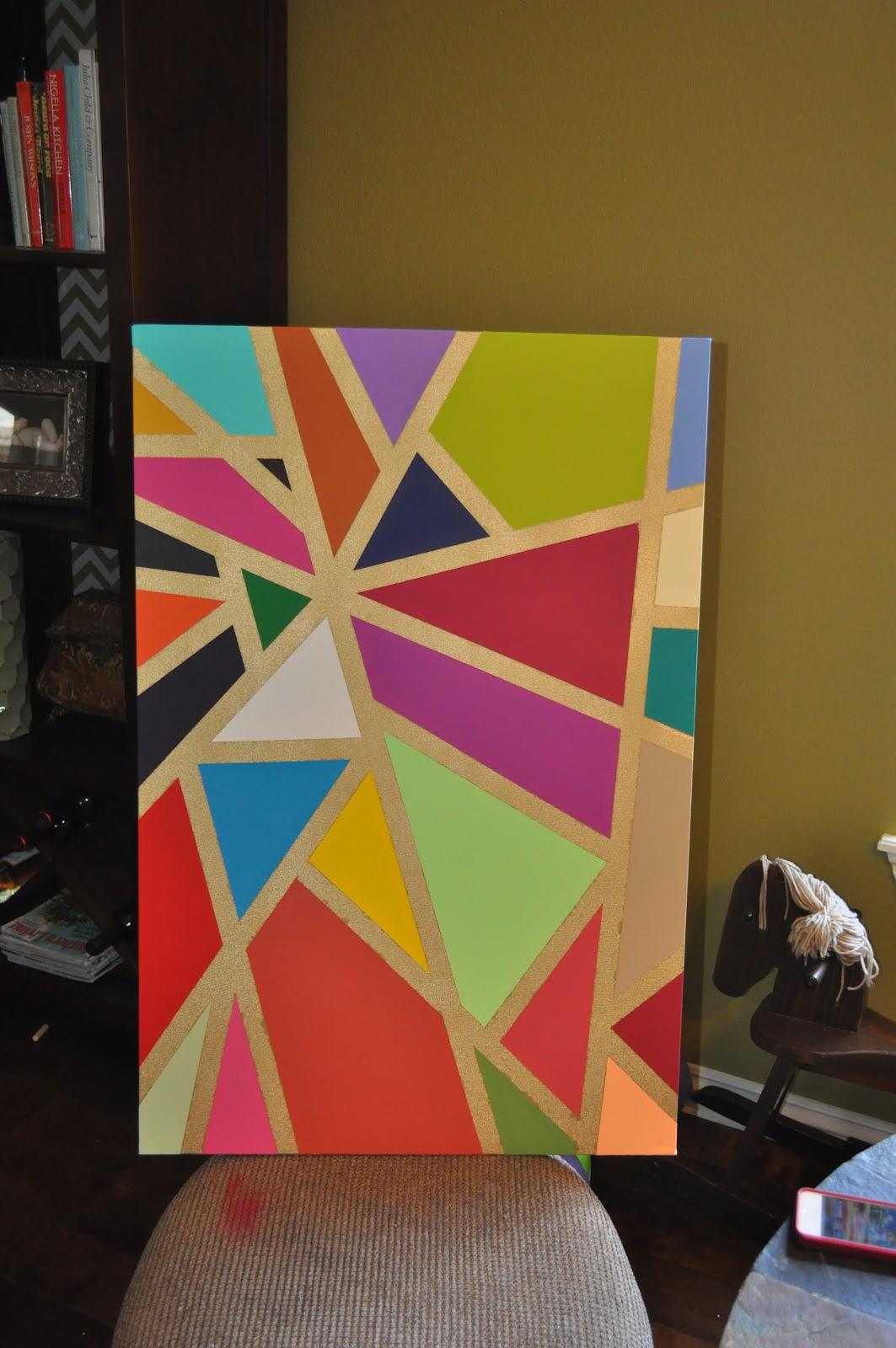 E3 Creations: Colorful Geometric Wall Art DIY
