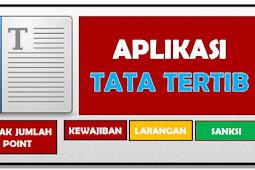 Aplikasi Tata Tertib Sekolah / Madrasah Format Excel Lengkap - File Newe Edukasi