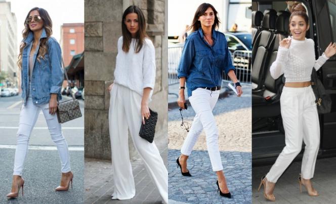 af291ac779cc Δες αλλιώς το λευκό σου παντελόνι  10 τρόποι για να το φορέσεις και το  φθινόπωρο