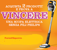 Logo Contenti & Insieme con SC Johnson - Vinci 9 Scope Elettriche Philips