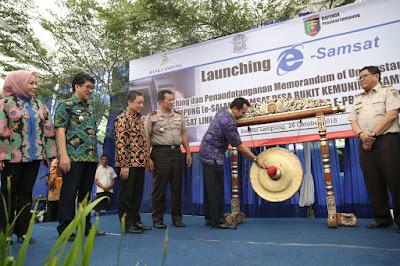 Gubernur Ridho Launching e-Samsat Lampung (e-SALAM)