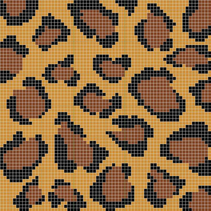 Crochet Kalaakari Tapestry Crochet Number 3 Leopard Print Clutch