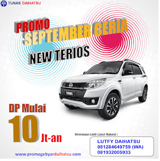 Promo Daihatsu September Ceria Terios Dp Murah Jakarta Timur 2017