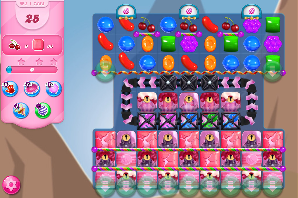 Candy Crush Saga level 7453