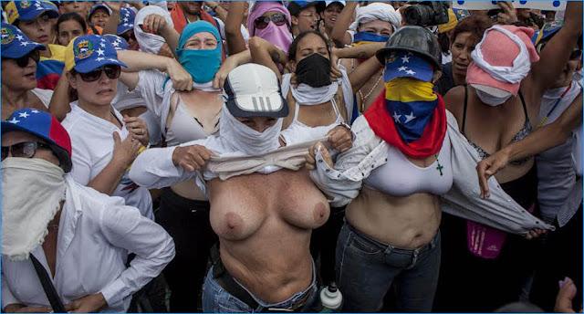 venezolanas desnudas marcha oposicion