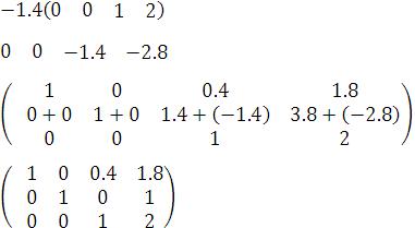 paso 6 para resolver un sistema de ecuaciones en tres variables con el método gauss-joran