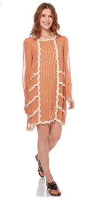 vestido bordado ingles color ocre