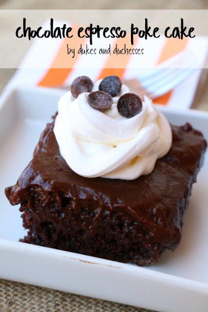 chocolate espresso poke cake recipe
