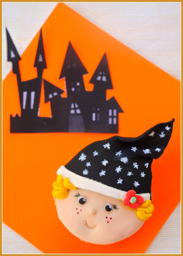 Diy cute halloween witch cupcakes toppers party ideas Cute easy halloween cakes