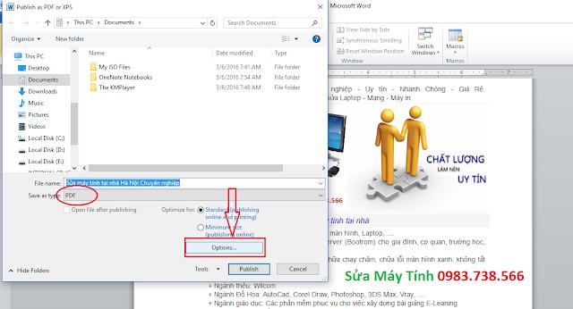 Đặt mật khẩu file PDF với Word - H08