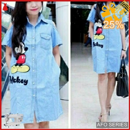 AFO509 Model Fashion Deess Mickey Sabrina LD 96 Murah BMGShop
