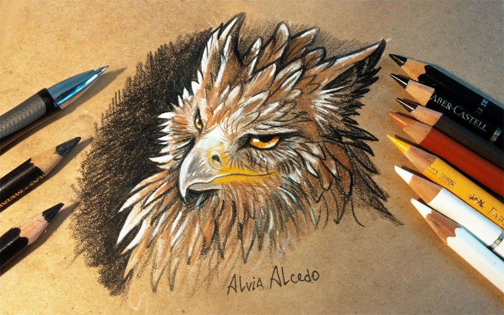 04-Suspicious-griffin-Alvia-Alcedo-Dragon-and-other-Mythical-Fantasy-Drawings-www-designstack-co