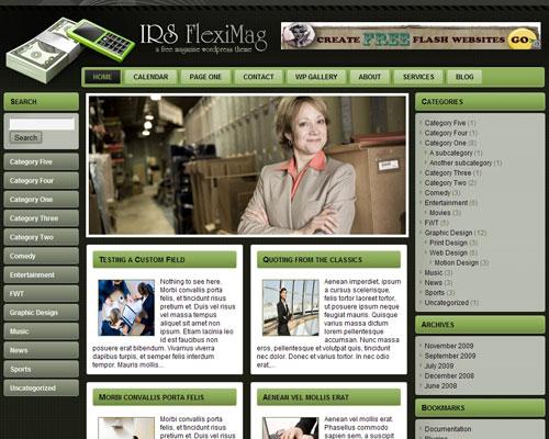 IRS FlexiMag Free WordPress Theme