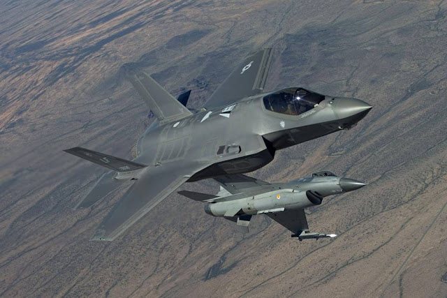 F-16 pilots fight against F-35