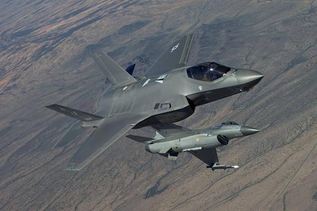 F-16 pilots fight against F-35